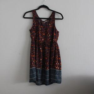 UO Ecote Cut-Out Back Fall Mini Dress